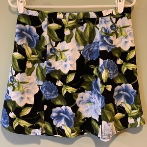 Authentic American Apparel Floral Mini Skirt